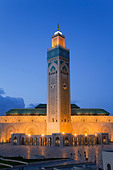 Hassan II Mosque, the third largest mosque in the world, Casablanca, Morocco, North Africa - Stock Image - C71KCB