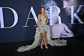 Los Angeles, California, USA. 2nd February 2017. Singer/actress Rita Ora at the premiere of 'Fifty Shades Darker' at The Theatre at The Ace Hotel, Los Angeles. Credit: Sarah Stewart/Alamy Live News - Stock Image - HMGXKE