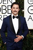 Beverly Hills, Us. 08th Jan, 2017. Milo Ventimiglia arrives at the 74th Annual Golden Globe Awards, Golden Globes, in Beverly Hills, Los Angeles, USA, on 08 January 2017. Photo: Hubert Boesl Photo: Hubert Boesl//dpa/Alamy Live News - Stock Image - HGGB64