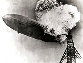 Hindenburg disaster - Stock Image - CEJTYH