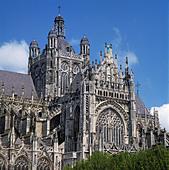 Teilansicht der St. Jan-Kathedrale in sHertogenbosch, Nordbrabant - Stock Image - AYTJ03