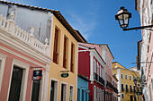 colonial architecture in the Old Town, Salvador, Brazil - Stock Image - F347BD