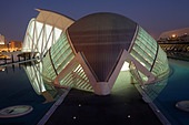 The Hemisferic, City of Arts and Sciences, Valencia, Spain - Stock Image - AK1NPK