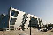 INDIA, Andhra Pradesh, Hyderabad: HITEC CITY, Major center of Indian Software Call Centre Industry. Cyber Gateway Building - Stock Image - ANXTGA