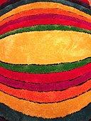 Full Frame Shot Of Multi Colored Doormat - Stock Image - FG0AYR