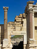 Israel Bet She'an Roman Theater ruins - Stock Image - BAKE1Y