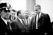 Martin Luther King and Malcolm X - Stock Image - C2H243