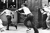 Lynchings in the U.S. on a black man - Stock Image - CPMYWF