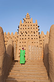 Great Mosque of Djenne, Djenne, Mopti Region, Niger Inland Delta, Mali, West Africa - Stock Image - BBTWJG