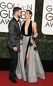Beverly Hills, CA. 8th Jan, 2017. Justin Timberlake, Jessica Biel at arrivals for 74th Annual Golden Globe Awards 2017 - Arrivals 2, The Beverly Hilton Hotel, Beverly Hills, CA January 8, 2017. © Adrian Newton/Everett Collection/Alamy Live News - Stock Image - HGGEC4