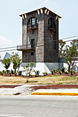 old-stone-watchtower-in-newly-plastered-