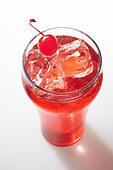 Shirley Temple cocktail on background - Stock Image